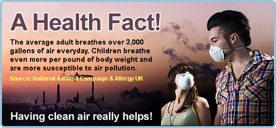 The Average Adult Breathes 3,000 Gallons Of Air Every Day!